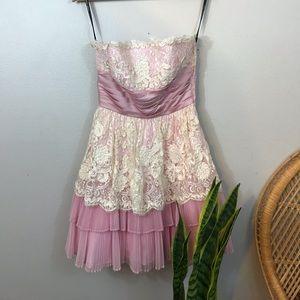 Pink & White Betsy Johnson Dress